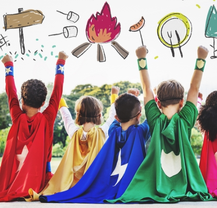 June / Summer Camp:<br>Drama Camp – Heroes<br>4 to 9 yrs